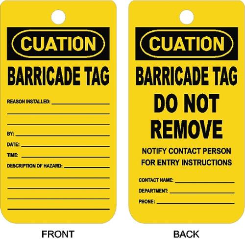 Barricade Tag_Description Of Hazard