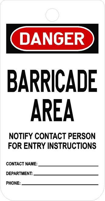 Barricade Area Tag