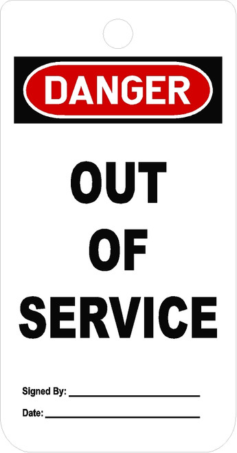 Out Of Service Equipment Locked tag