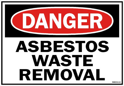 Asbestos1007-Asbestos-Waste-Removal-Sign