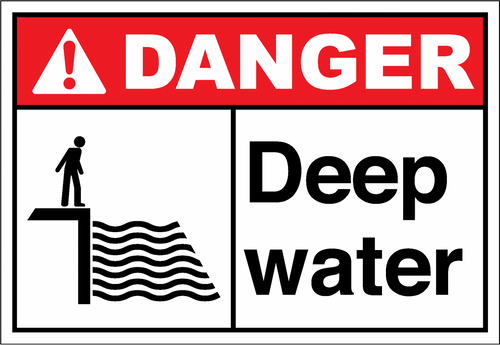 Danger Sign deep water