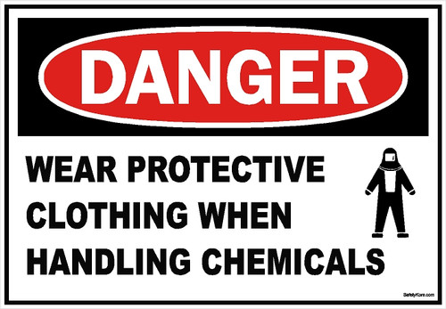Wear Protective Clothing Chemical Sign