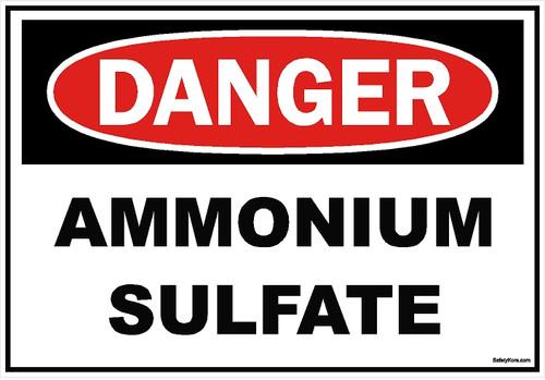 Ammonium Sulfate Sign