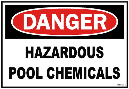 Hazardous Pool Chemicals Sign