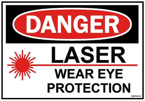 Laser Wear Eye Protection Sign