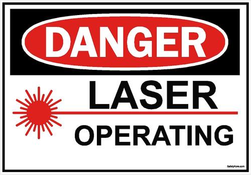 Laser Operating Sign