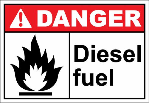 Danger Sign diesel fuels