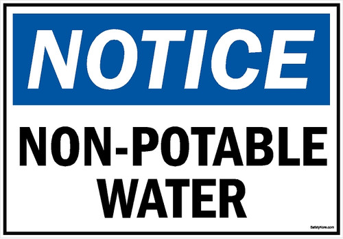 Non Potable Water Sign
