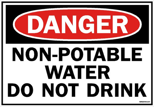 Non Potable Water Do Not Drink