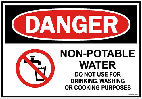 Non Potable Water Do Use Sign