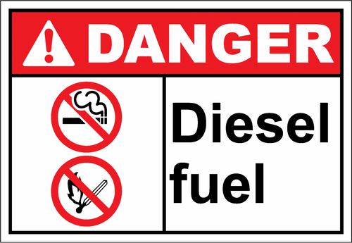 Danger Sign diesel fuel