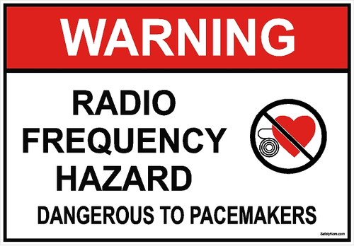 Pacemaker Radio Frequency Hazard Sign