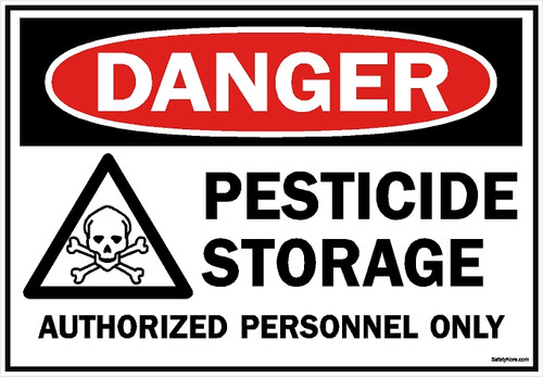 Pesticide Storage Sign
