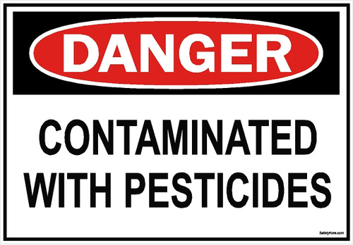 Pesticide Contaminated Sign