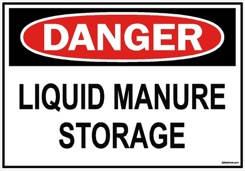 Liquid Manure Storage Sign