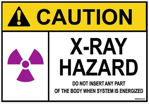 X-RAY Hazard Sign