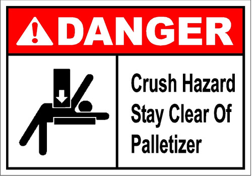 Stay Clear Of Palletizer