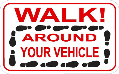 Walk Around Your Vehicle Decal