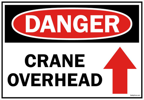 Danger Sign Crane Overhead 2