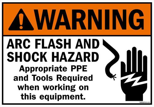 Arc Flash Shock Hazard PPE Required