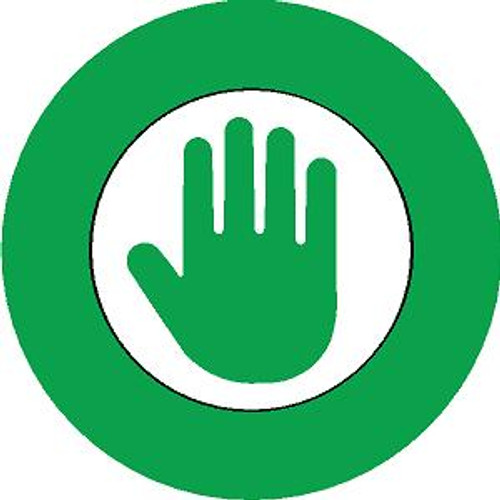 Green Hand Hard Hat Sticker 2