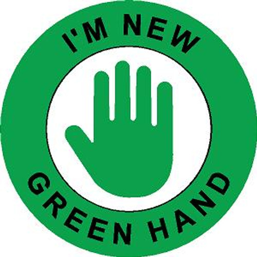 Green Hand Hard Hat Sticker 1