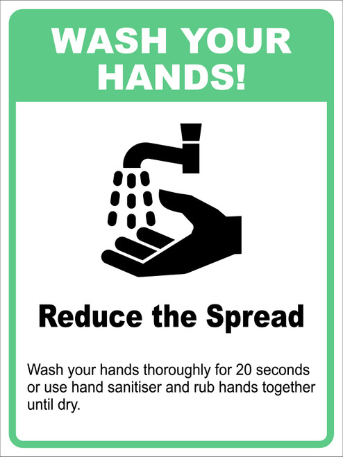 Covid 19 Wash Your Hands Sign