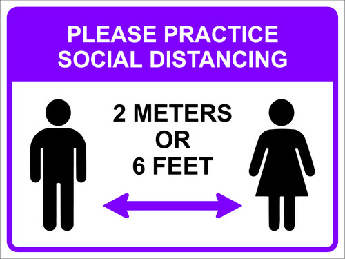 Covid 19 Social Distance Sign