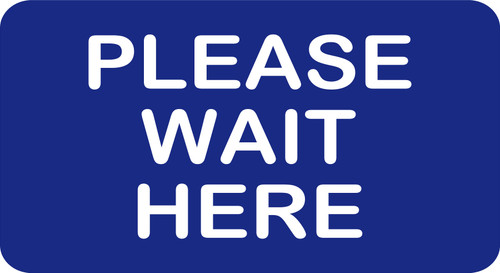 Covid 19 PLEASE WAIT HERE FLOOR DECAL STICKER