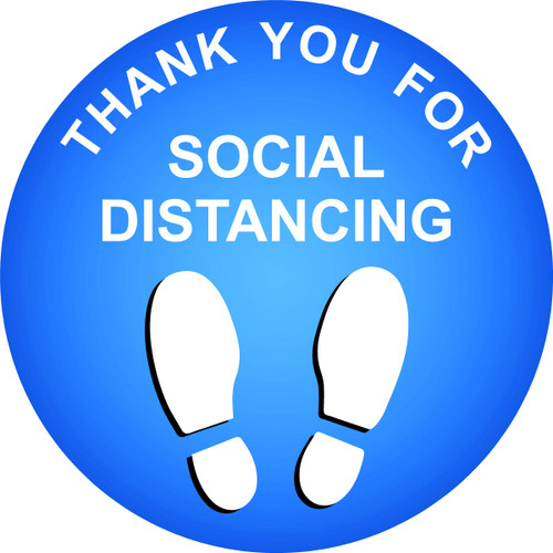 Covid 19 thank you for social distancing floor sticker decal
