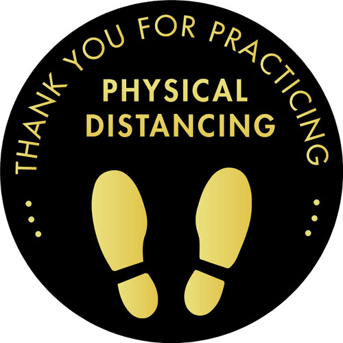 Physical Distancing Floor Decal Covid 19