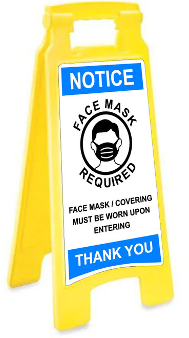 Covid 19 Floor Sign Face Mask Required Must Be Worn