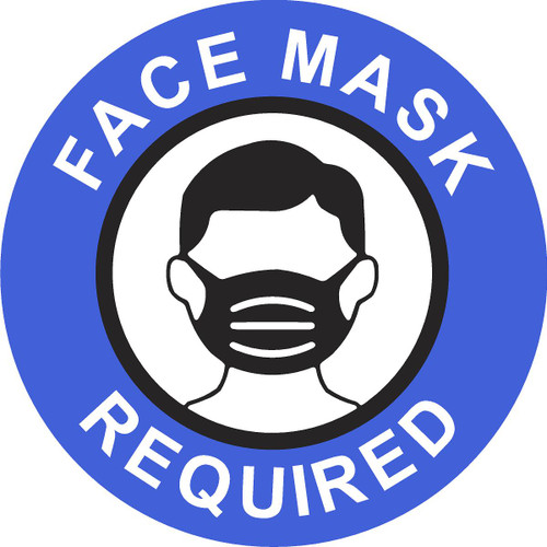 Covid 19 Face Mask Required Must Be Worn Window Sticker