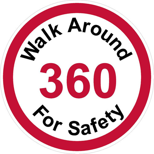 Walk Around 360 For Safety Decal