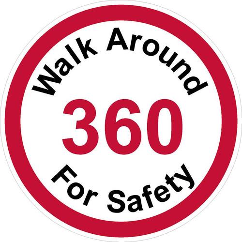 Walk Around 360 For Safety Decal