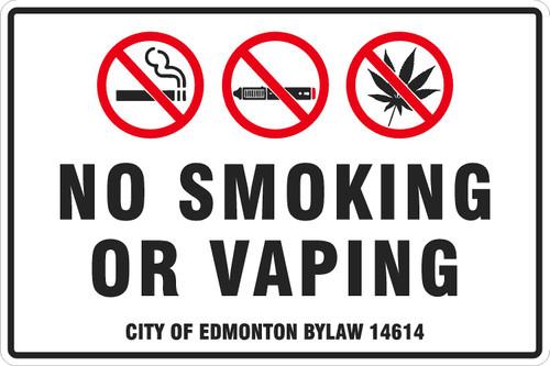 No Smoking or Vaping. No Weed.