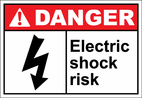 Danger Sign electric shock risk