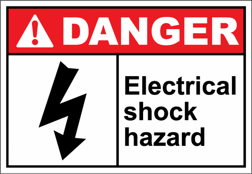 Danger Sign electrical shock hazard