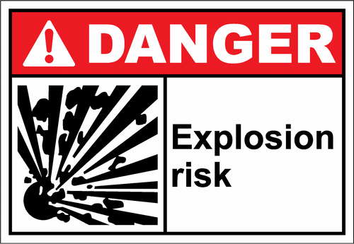 Danger Sign explosion risk