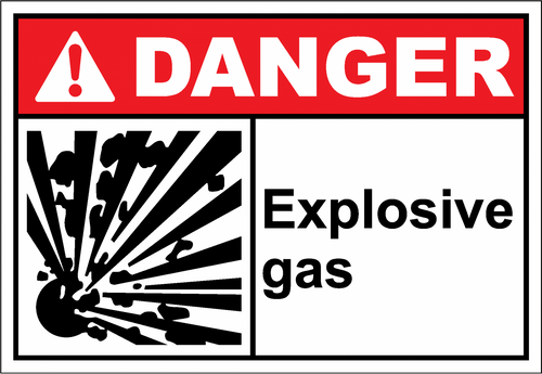 Danger Sign explosive gas