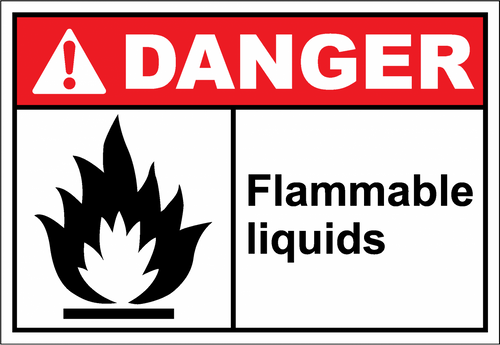 Danger Sign flammable liquids