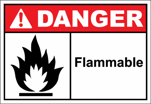 Danger Sign flammable