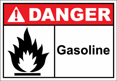 Danger Sign gasoline