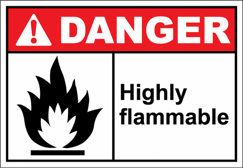 Danger Sign highly flammable