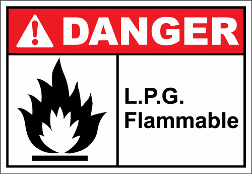 Danger Sign lpg flammable