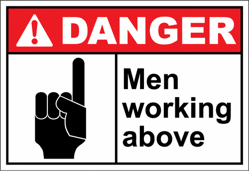 Danger Sign men working above