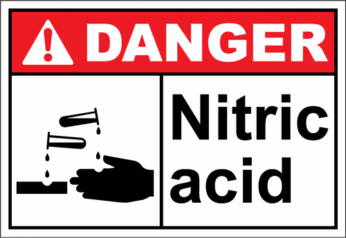 Danger Sign nitric acid