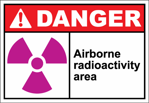 Danger Sign airborne radioactivity area