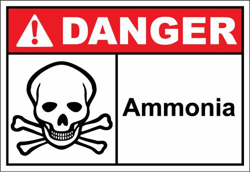 Danger Sign ammonia
