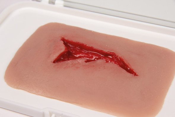 Skin Moulage, Laceration Wound 1
